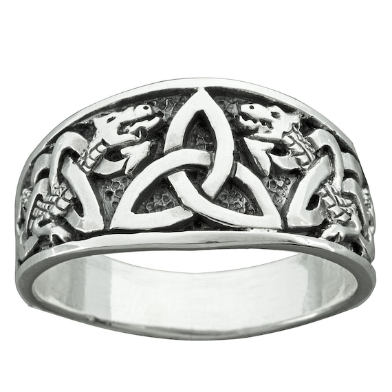 Sterling Silver 925 Irish Celtic Knot Triquetra Pendant 12mm