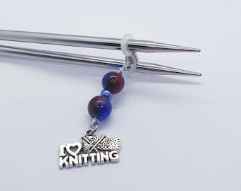 Knitting needle end stopper, stopper, knitting stitch keeper, stitch marker, knitting accessories, knitting gift