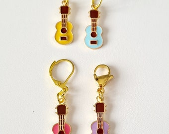 Guitar Stitch Markers, musical stitch markers, knitting, crochet stitch markers, row marker, progress keepers, notions, knitting gift