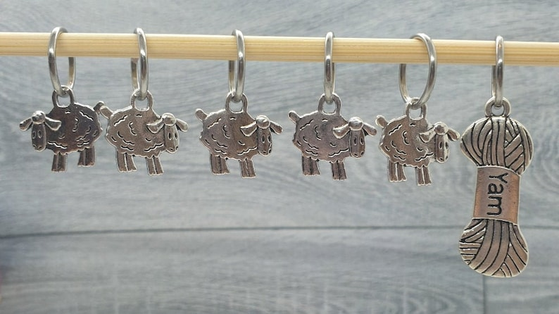 Sheep to Yarn Stitch Markers stitch markers for knitting Set of 6