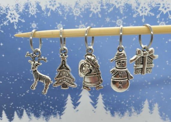 Stitch Markers snowman /& tree