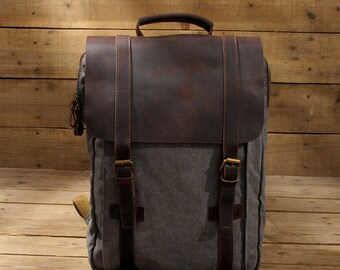 040bc838a4 Leather backpack