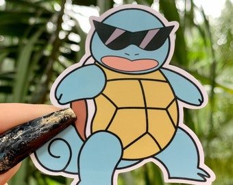 """Details about  //""""SQUIRTLE YEARS OUTSIDE! POKEMON/"""" VINYL STICKER RATED TO LAST 6"""