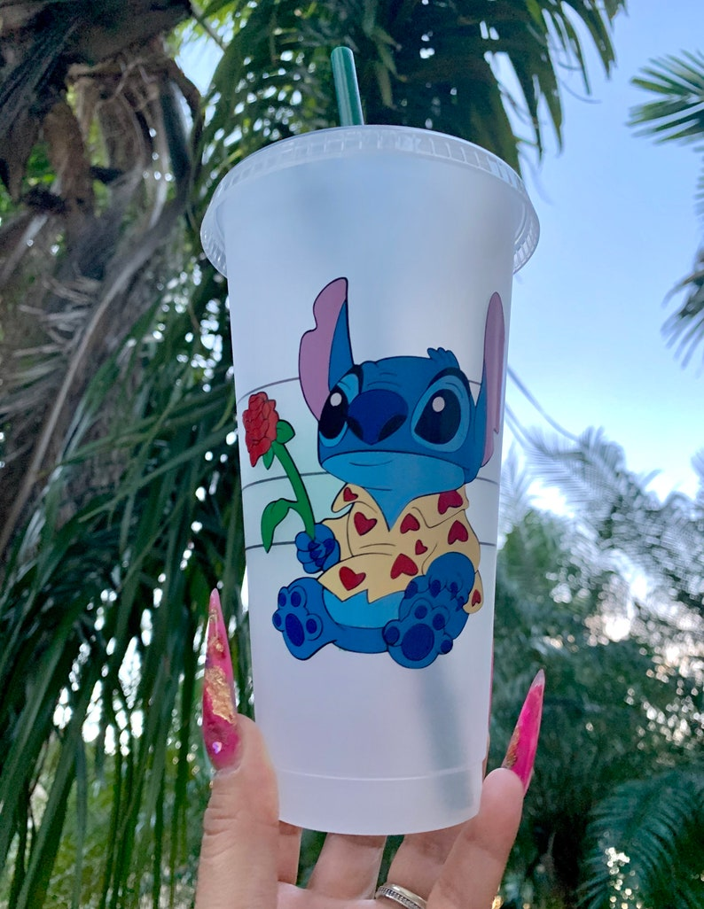 Disney Inspired Love Experiment 626 Stitch Starbucks Reusable Cold or Hot Cup
