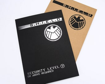 a98551d2074855 S.H.I.E.L.D. Security Level 7 Kraft Paper Folder TV Show Movie Props Replica