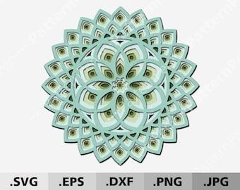 Download Layered Mandala Svg Etsy