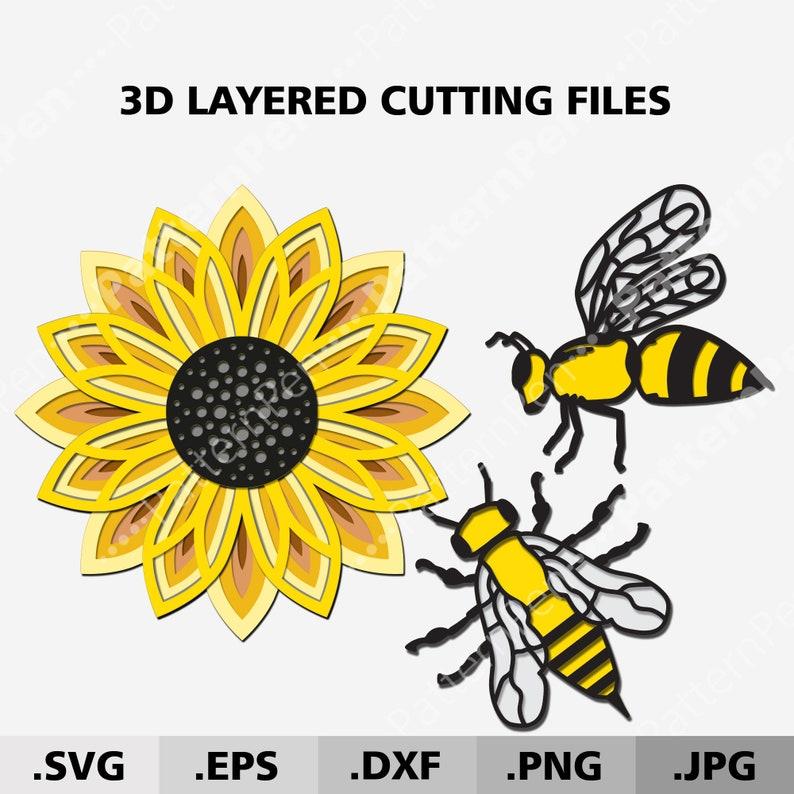 Download 3d Mandala Sunflower Bundle SVG. 3D layered Mandala SVG ...