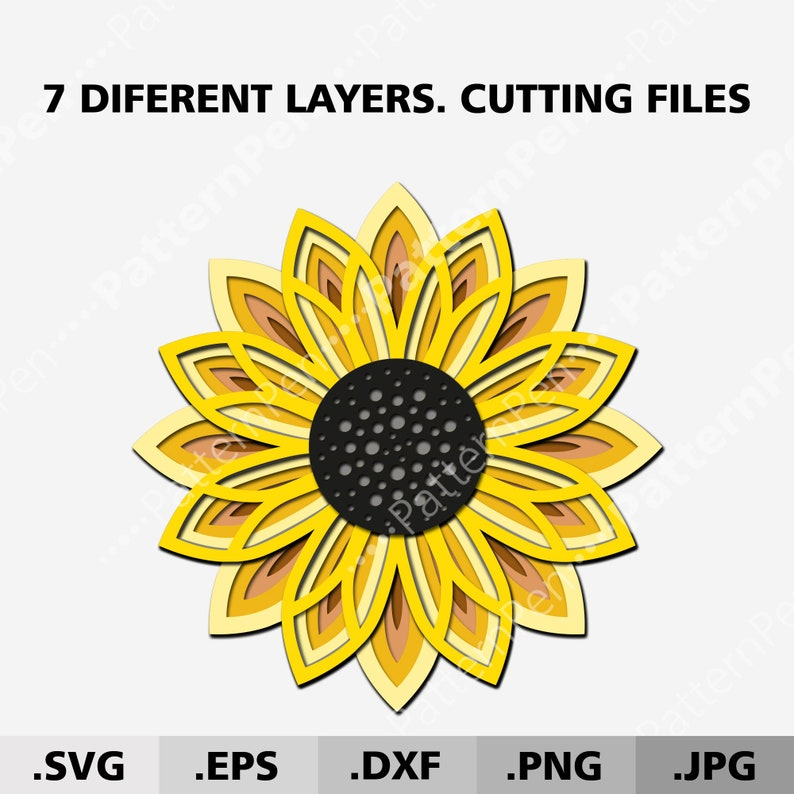 Download 3d Mandala Bundle SVG files for cricut. 3 Layered Mandala ...