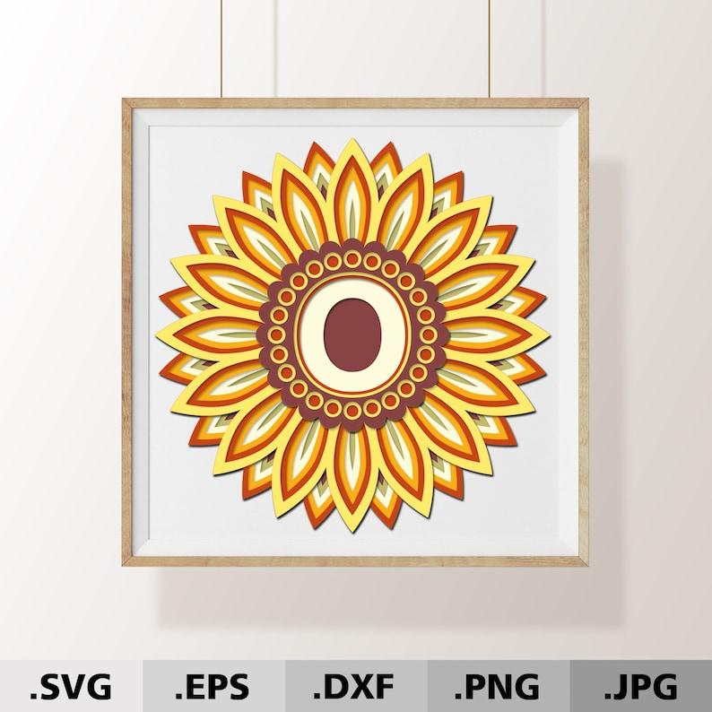 3d Mandala svg Letter O. 3D Alphabet Sunflower SVG files ...