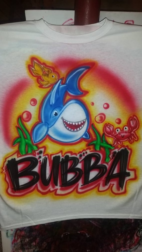 Personalized Custom Airbrushed Baby Shark Shirt With Name And Etsy