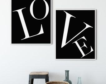 Love Set Of 2 Prints