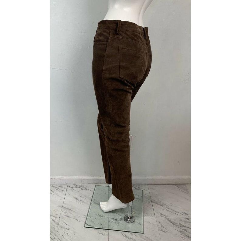 Tommy Hilfiger Vintage Brown  Leather Suede Pants 90\u2019s Size 4