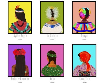 """11""""x14"""" """"Ethnic and Folkloric Dresses of Panama""""//with titles PRINT"""