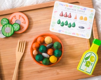 Vegetarian Loose Parts Recipe Cards - For Use With Mandala Pieces - Open Ended Play Printable