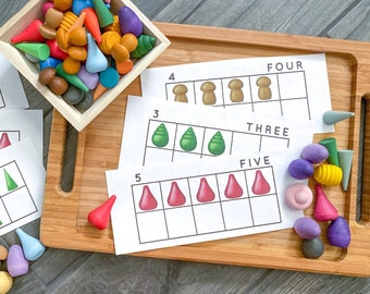 Mandala Pieces Back To School Collection - Open Ended Play Printable (10 Frame Cards, Addition Playmat, Patterning Cards and more!)