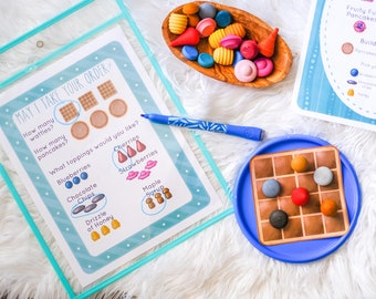 Loose Parts Breakfast Shop / Dramatic Play  - For Use With Mandala Pieces - Open Ended Play Printable (Digital Download)
