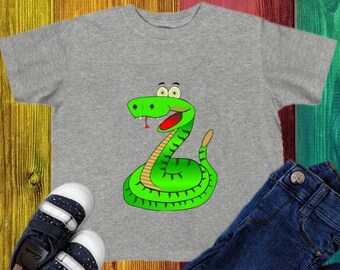 2a7804e56907ca Snake T-Shirt Toddler 2T 3T 4T 5T 6T Cartoon Tee Boy Girl Zoo Animal  Whimsical Kids Top Clothes Birthday Gift Cotton Serpent Shirt TShirt