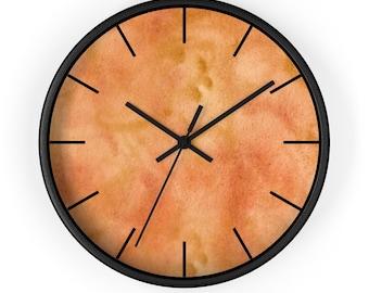 Beige Stone Concrete Lozenge Wall Clock Modern Wall Clock with Stone textured