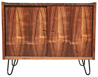 Danish Rosewood Slide Front Cabinet
