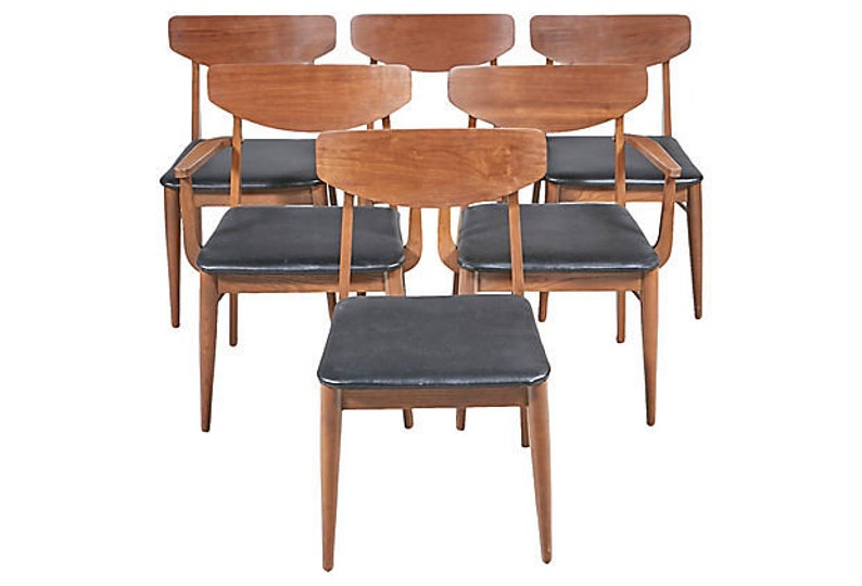 1960s Stanley Furniture Dining Chairs Set Of 6
