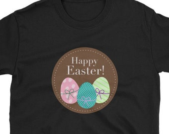fdb16f30 Happy Easter T-Shirt, Happy Easter T-Shirt Unique Easter Shirt for Women  Men Funny Easter Tee Easter Gift Typography Tees New Trendy Unisex
