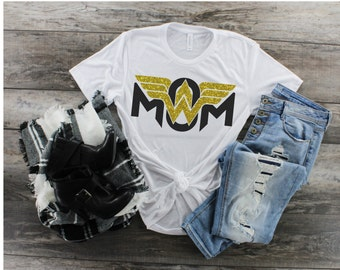 4e8050dd46 Wondermom Shirt, Superhero Mom Shirt, Mom Tee, Mom T-Shirt, Plus Size Mom  Shirt, Mother's Day Present, Wonderwoman Shirt