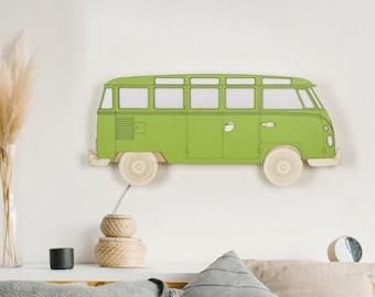Campervan plug in wall sconce . Car kids room decor,  nursery decor boy, baby boy gift.