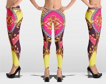 10bb47345ee01 Leggings for Women, Yoga Pants, Printed Leggings, Designer Leggings, Versace  Inspired