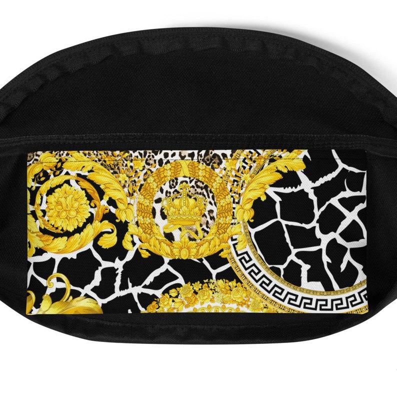 Bum Bag Vacation Bag Versace Inspired Fanny Pack Greek Key Designer Fanny Pack