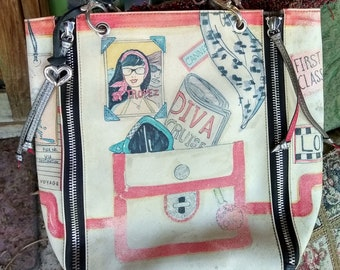 "Vintage Brighton Bags ""Fashionista"" leather tote"