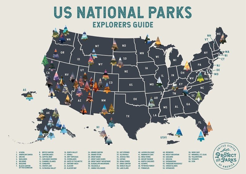 USA National Park Scratch Off Map  Scratch Off Travel Poster image 7