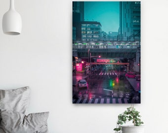 Poster Tokyo Metropolis Wall Art. Vaporwave citypop aesthetic photography. Beautiful poster for home and dorm.