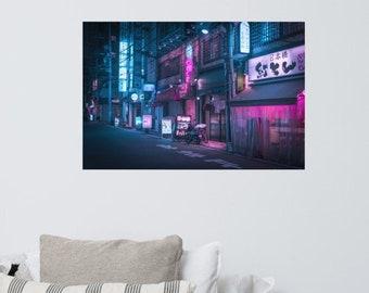 Neon and Brick wall