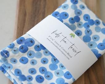 Kids blueberry tea towel/kitchen towel/southern kitchen/Cotton/Linen/play kitchen/spring/Easter