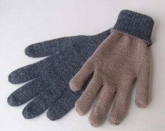Gants d alpaca, réversibles gants, gants gris gants de laine, péruviens,  gants, cadeau péruvien. e3b8d813378