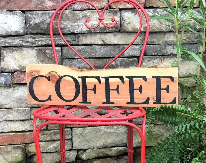 Rustic coffee sign,  wooden sign, farmhouse sign, coffee bar