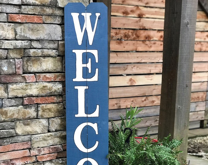 Tall WELCOME sign, porch welcome sign, front porch sign