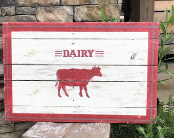 Large farmhouse style sign, dairy cow sign, farmhouse decor