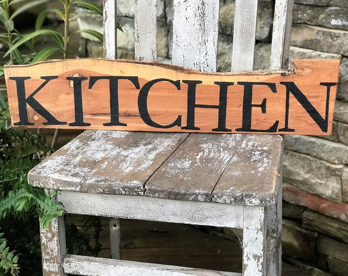Kitchen rustic wood sign, country home decor, wooden rustic farmhouse style sign, cabin wall decor