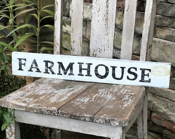 """Farmhouse wood sign, 3 1/2""""x24"""", farmhouse wall decor, vintage style decor"""