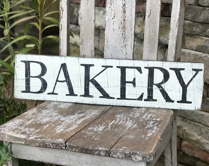 Bakery wood sign, farmhouse style kitchen sign, wooden sign