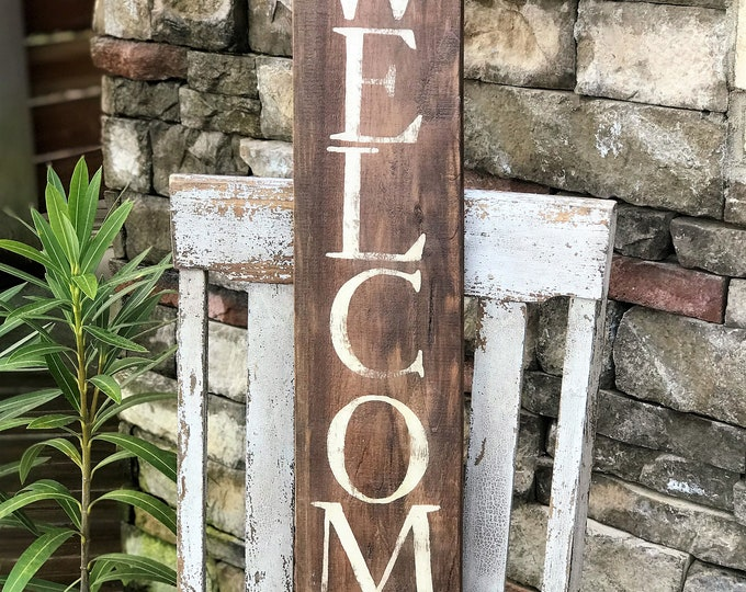 Rustic Welcome sign | reclaimed wood sign | farmhouse wood sign | rustic wall decor | cabin decor