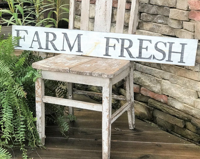 Farm Fresh wooden farmhouse sign | vintage decor | vintage farm sign | farmhouse decor