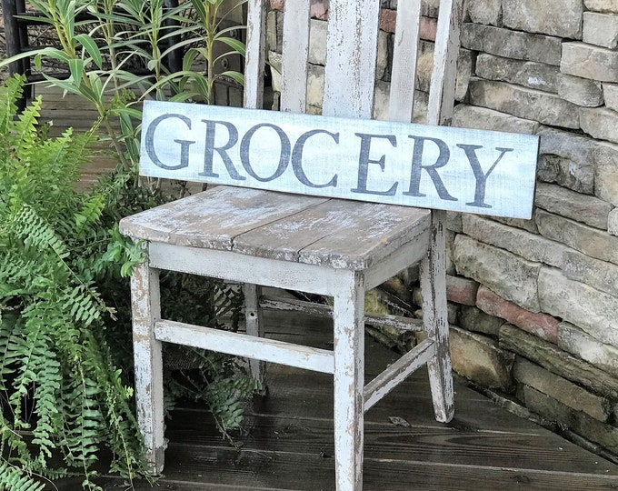 Grocery, wooden farmhouse style sign | southern style sign | kitchen sign