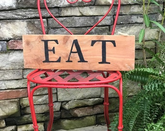 Eat farmhouse sign, rustic kitchen sign, country home decor