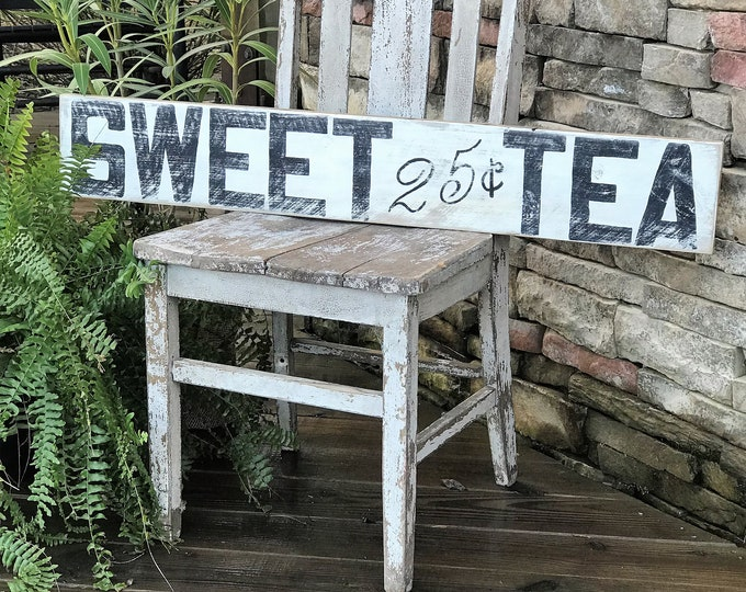 Sweet tea barn wood sign | farmhouse sign | southern style decor | vintage decor