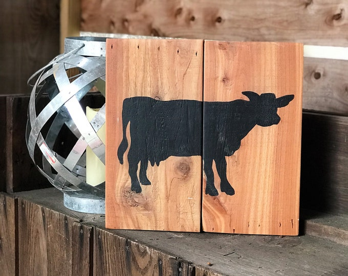 Rustic cow kitchen sign | rustic farmhouse cow decor
