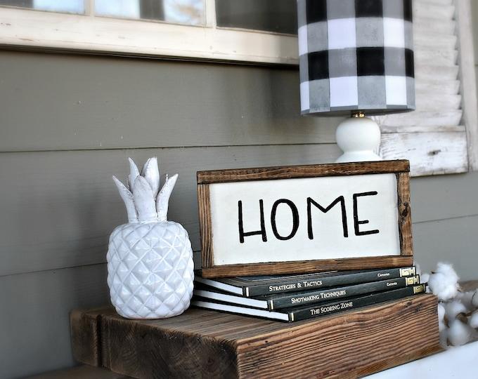 Home wood sign  | modern farmhouse decor| farmhouse sign