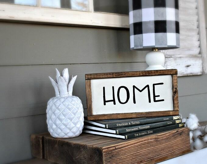 Home wood sign | modern farmhouse decor| small wooden farmhouse style sign