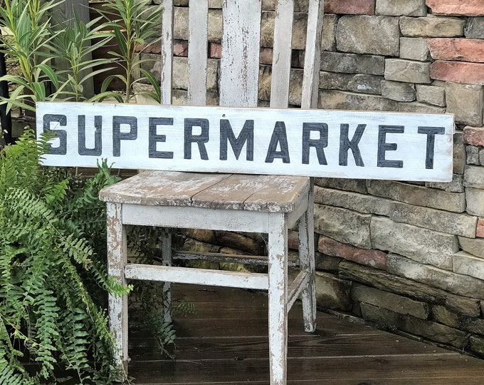 Supermarket barn wood sign | farmhouse sign | vintage farmhouse decor